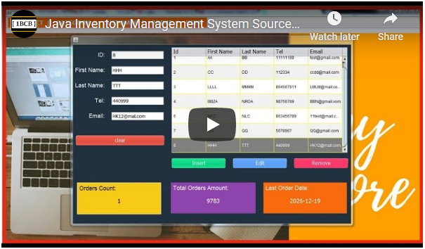 Java Inventory Management System Source Code