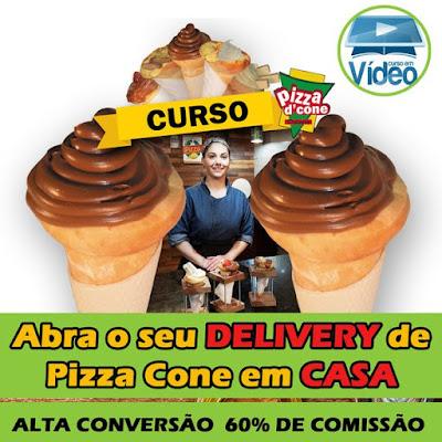 Curso Online de Como fazer PIZZA CONE - Abra um Delivery em casa!