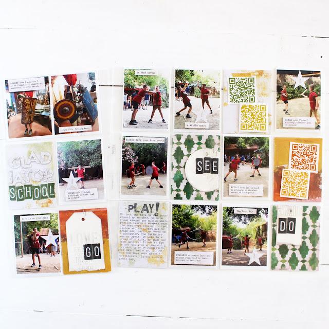Heidi Swapp Art Walk + using QR codes in your memory keeping
