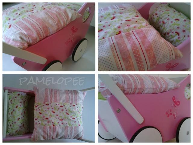 pamelopee bettw sche f r den puppenwagen. Black Bedroom Furniture Sets. Home Design Ideas