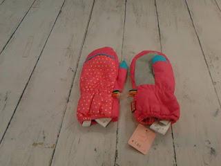 中古品 手袋 ピンク 190円