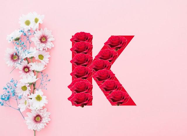 حرف k بالورد