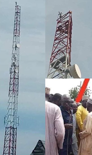 Man climbs mast, vows not to come down till Buhari resigns