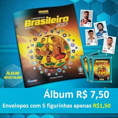 Novidade na Banca do Vanildo é o álbum e figurinhas do Campeonato de Futebol Brasileiro de 2017.