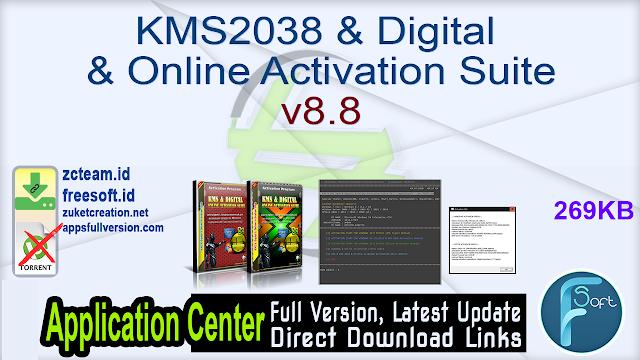 KMS2038 & Digital & Online Activation Suite v8.8