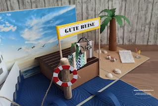 Geschenkbox Explosionsbox Überraschungsbox Kreuzfahrt Schiff Reisegutschein Geldgeschenk