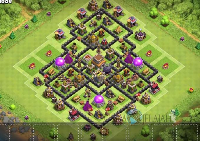 Base Trophy TH 8 di Clash Of Clans Terbaru Tipe 17