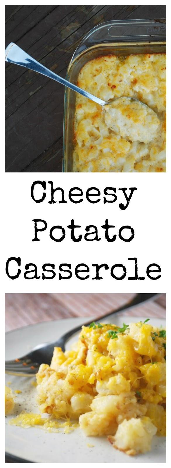 Cheesy Potato Casserole Holiday Side Dish