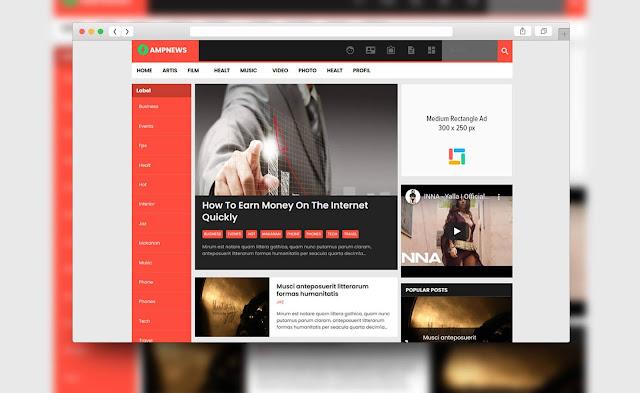 download template blogger amp gratis