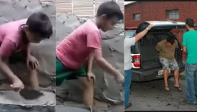 Conselho Tutelar pede a prisão de pai que gravou vídeo ensinando a profissão de pedreiro ao filho