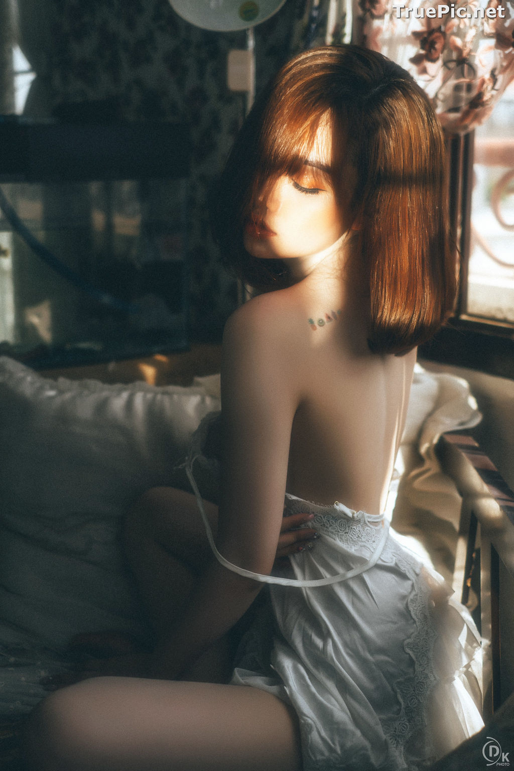 Image Vietnamese Hot Model - Sleepwear and Lingerie Under Dawnlight - TruePic.net - Picture-10