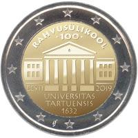 Viro Tarto Yliopisto 2 euro erikoiseuro 2019