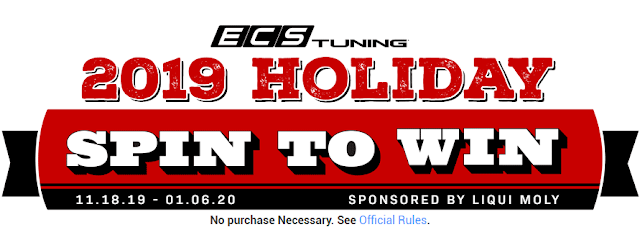 ECS Tuning is offering chances to spin to win gift cards each day in their 2019 Holiday Instant Win Game! One lucky winner will get a $10,000 gift card!