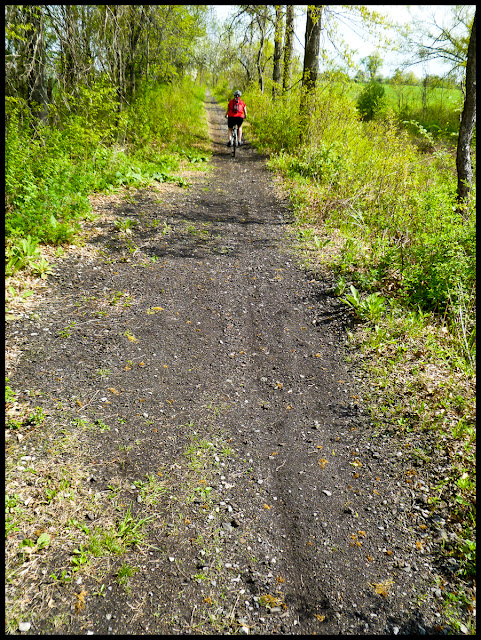 The paved trail ends in Wallkill, NY. The next few miles are on dirt.