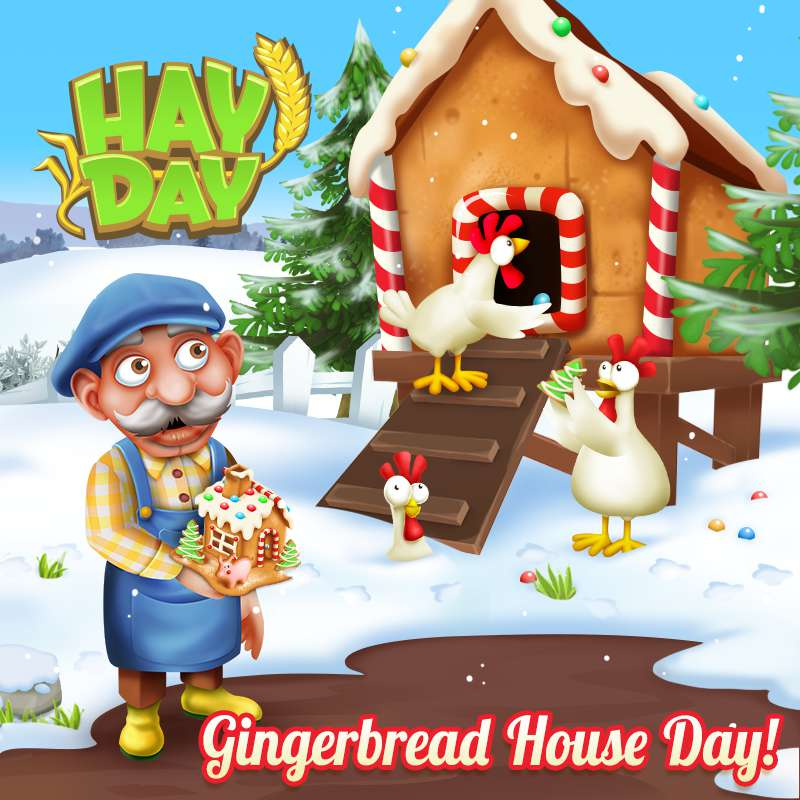Gingerbread House Day Wishes Awesome Images, Pictures, Photos, Wallpapers