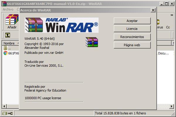 WinRAR 5.40 para Windows (32-bit) y (64-bit)