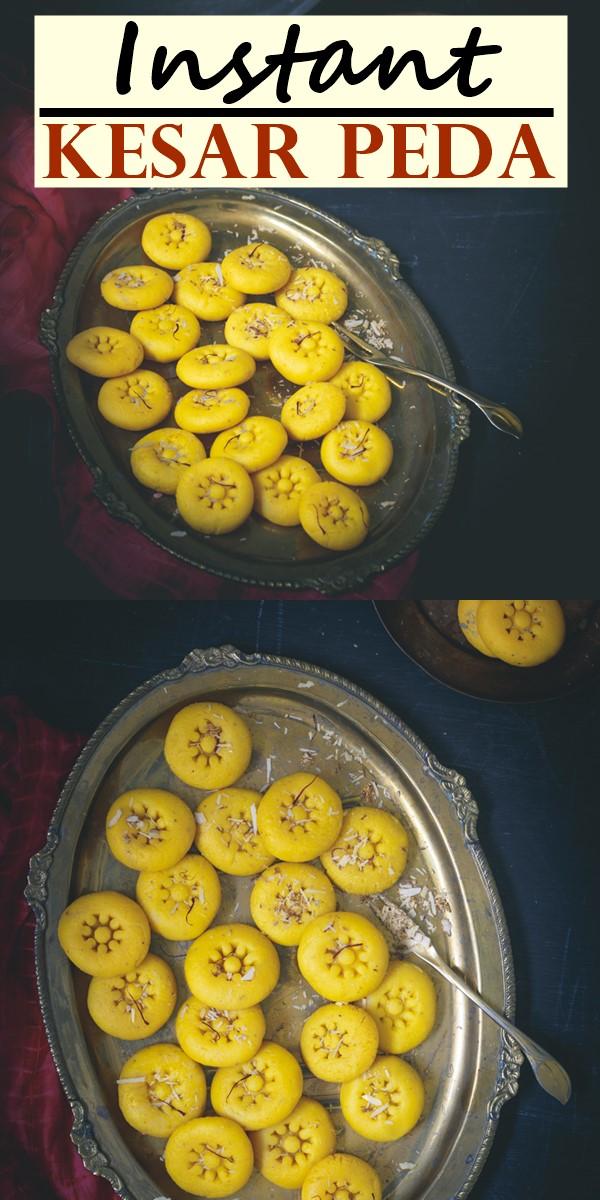 Instant Kesar Peda #dessertrecipes