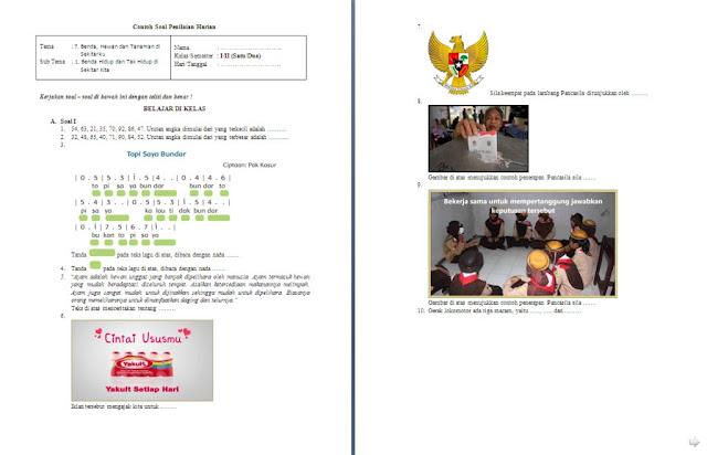 Soal Penilaian Harian (PH) Kelas 1 SD/MI: Tema 7