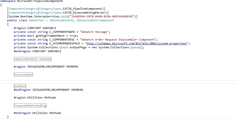 How to write a custom pipeline component in biztalk