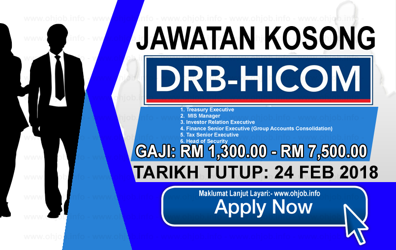 Jawatan Kerja Kosong DRB-HICOM logo www.ohjob.info februari 2018