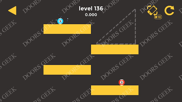 Ball & Ball Level 136 Solution, Walkthrough, Cheats for android and ios