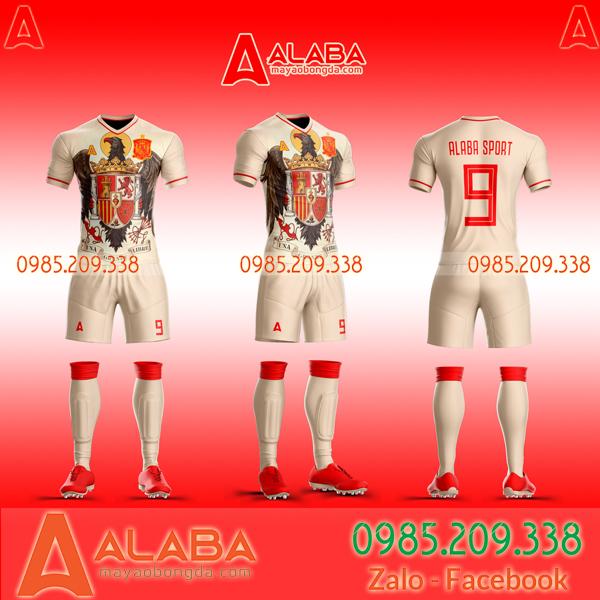 Áo Tây Ban Nha trắng 2020
