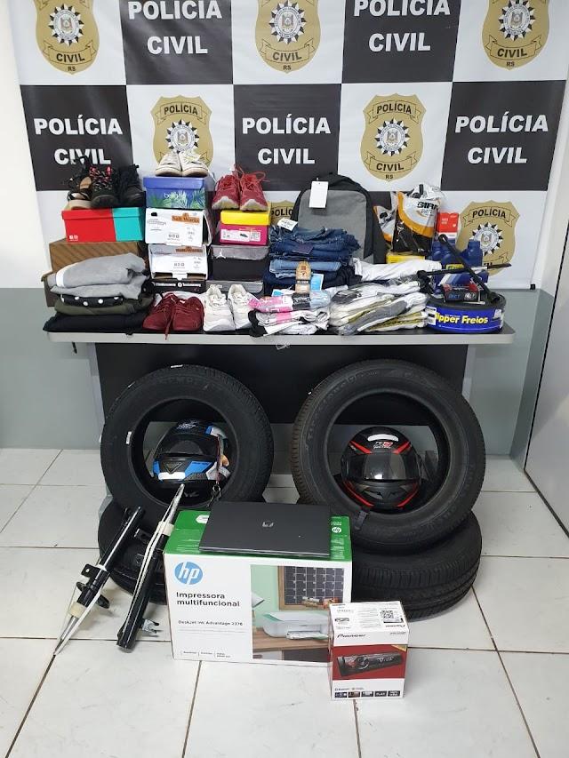 PC recupera carros, bens e R$ 20 mil furtados de residência em FW