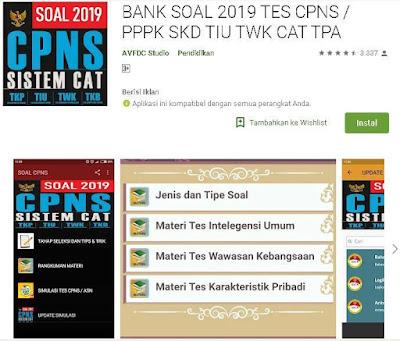 Bank Soal 2019 Tes CPNS / PPPK SKD TIU TWK CAT TPA