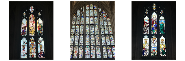 Winchester Cathedral stained glass windows