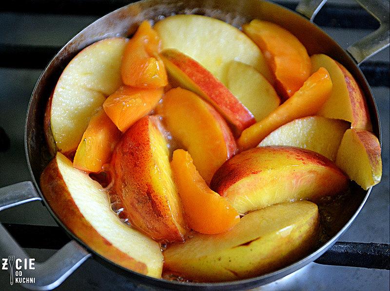 owoce zapiekane z koglem moglem, deser owocowy, owoce zapiekane, cydr lubelski, deser z cydrem, przepisy z cydrem, blog, życie od kuchni