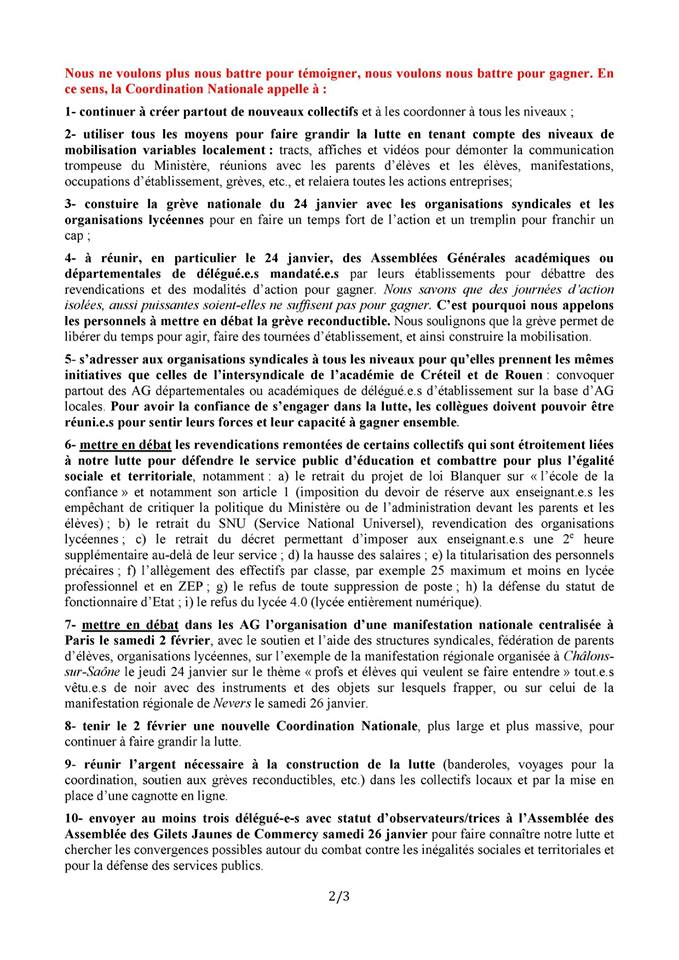 DECLARATION COORDINATION NATIONALE PAGE 2