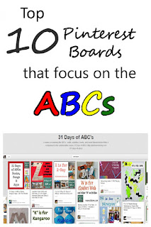 Top 10 Pinterest boards that focus on the ABCs