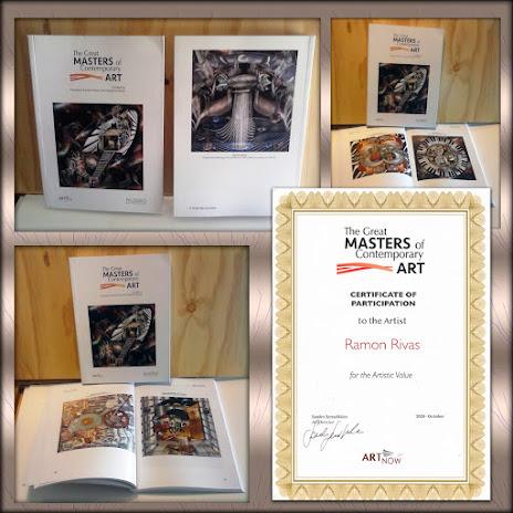 """Obras de Ramón Rivas en el libro: """"The Great MASTERS Contemporary ART"""""""
