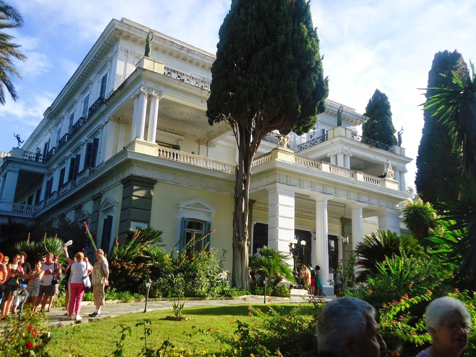 Corfu achilleion sisi travel