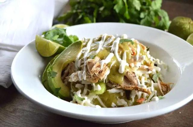Chicken Verde Taco Bowls #healthy #lunch