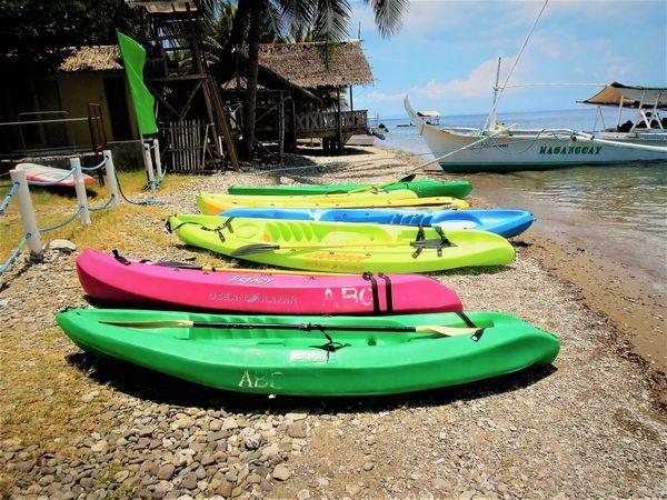 Kayaking at Anilao Beach Club