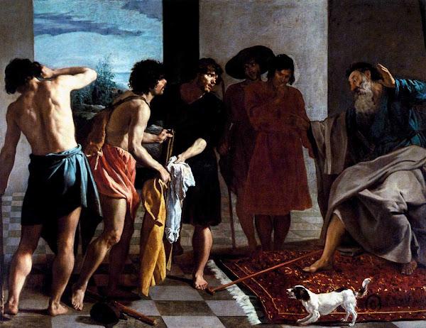 Диего Веласкес - Приношение окровавленных одежд Иосифа Якову (1630)