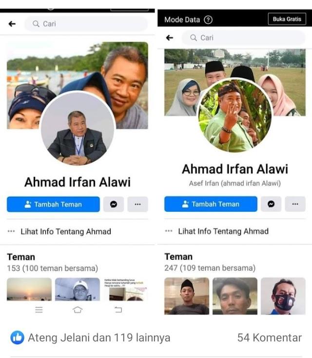 Akun FB Milik Politikus Senior PKB Asal Pangandaran Ahmad Irfan Alawi Dicatut Oleh Orang Yang Tidak Bertanggung Jawab