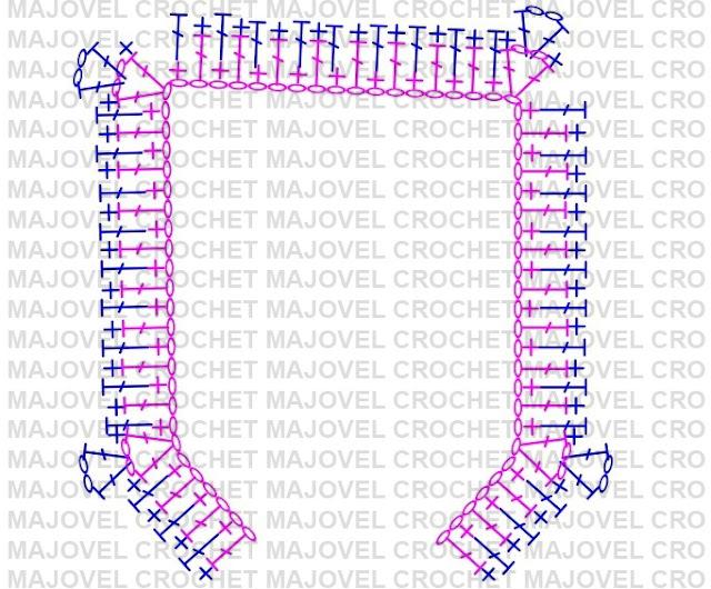 PATRON CANESU DE CHAQUETA - Crochet Imagen Chaqueta a crochet con puntada de arroz muy fácil y sencillo por Majovel Crochet