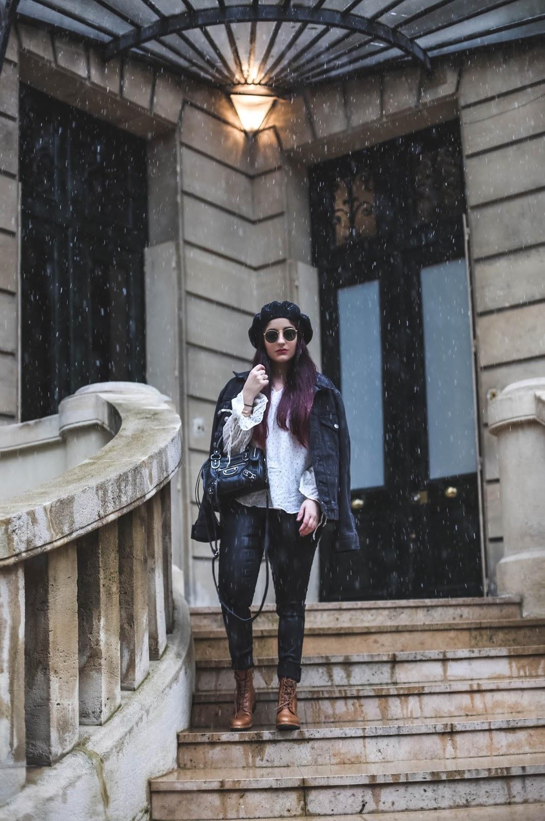 veste en jean blog mode