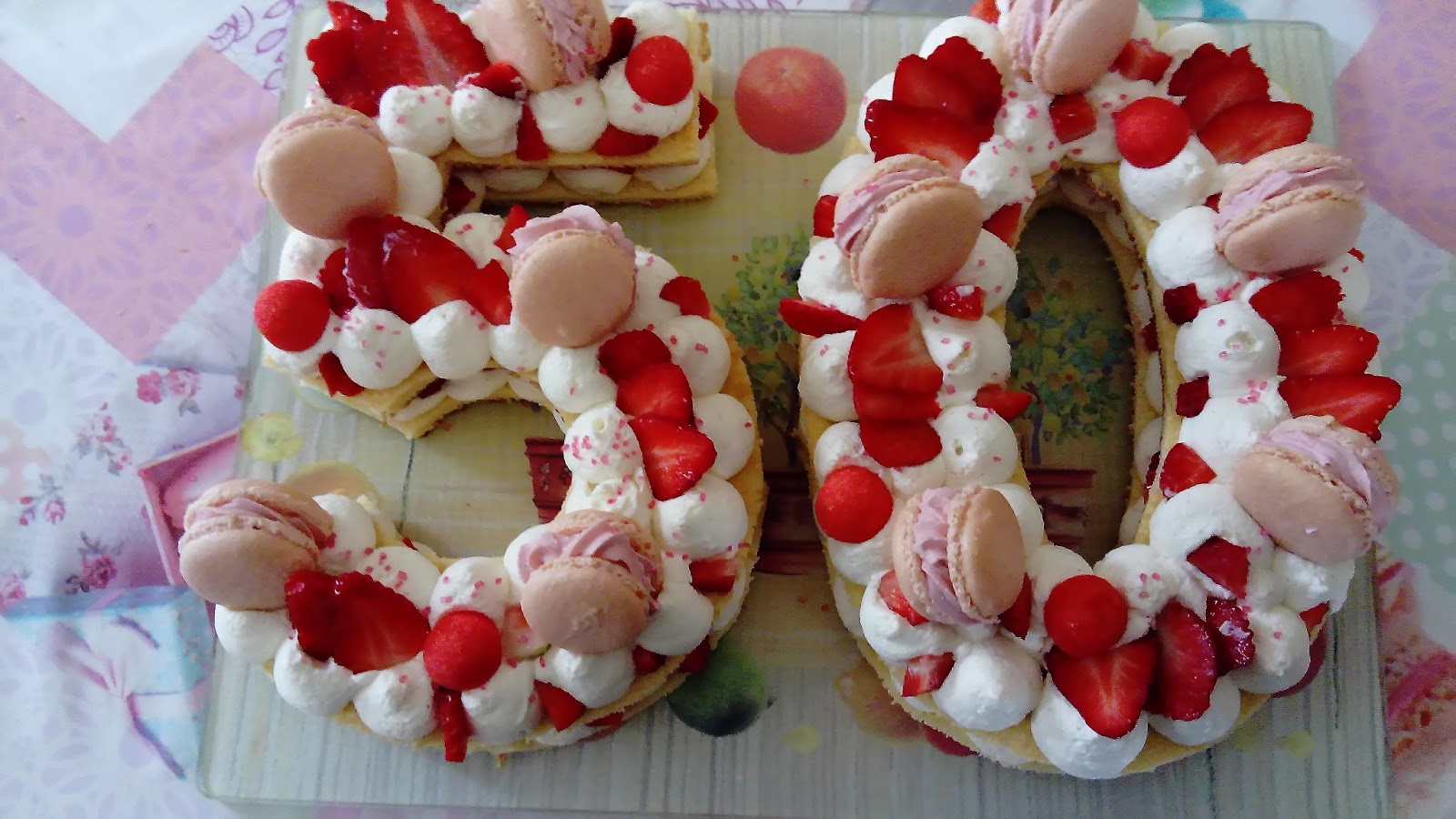number cake aux fruits rouges