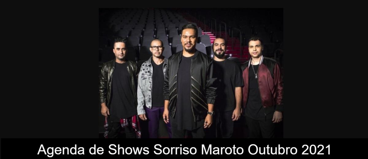 Agenda de Shows Outubro 2021 Sorriso Maroto