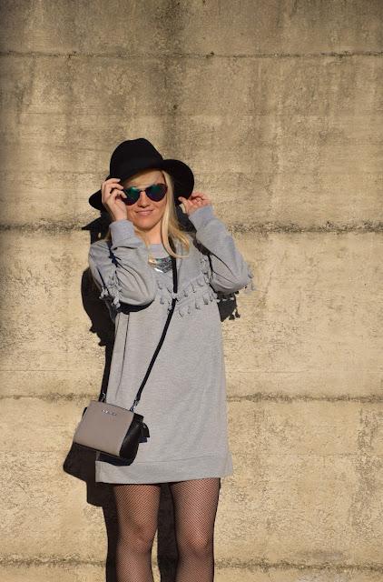 outfit cappello come indossare il cappello fedora hat how to wear fedora hat come indossare il cappello fedora cappello nero mariafelicia magno fashion blogger occhiali da sole zara a forma di cuore