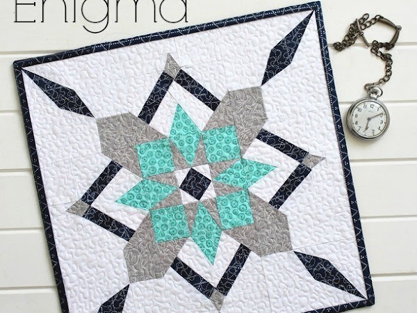 Enigma Mini Quilt + Your Free July 2016 Calendar