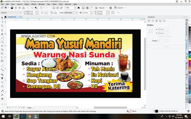 Spanduk Warung Nasi Sunda