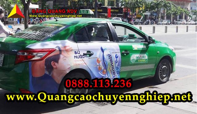 Dán quảng cáo trên Taxi từ 2 cựa sau đến hết thân xe