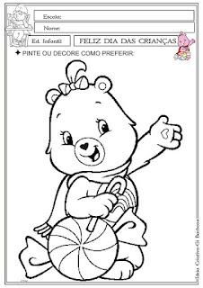 Atividade para Maternal Dia das Crianças