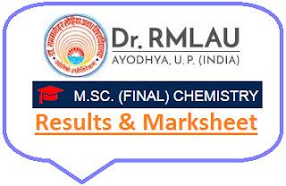 RMLAU Ayodhya M.Sc Final Chemistry Result 2021