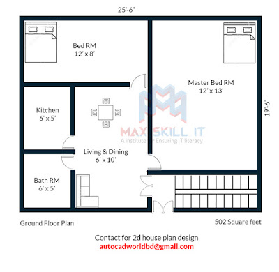 2d house plan design