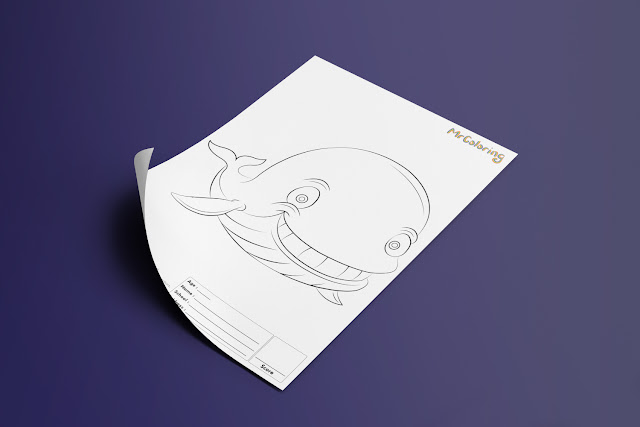 Free Printable Fish Whale Template Coloriage Outline Blank Coloring Page pdf For Kids Pictures To Print Out Fun Colouring Pages Kindergarten Preschool Toddler 6